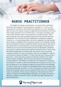 sample nurse practitioner entrance essay