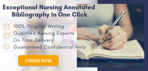 annotated bibliography nursing topics help